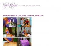physiotherapie-luda.de Webseite Vorschau