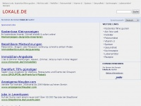 lokale.de Webseite Vorschau