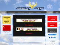 amazing-wings.com Webseite Vorschau