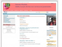 genrespluriels.be Webseite Vorschau