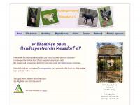 hundesportverein-meusdorf.de Webseite Vorschau