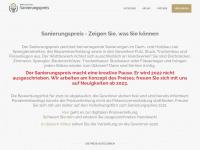 sanierungspreis.de Webseite Vorschau