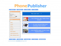 phonepublisher.com Webseite Vorschau