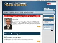 cdu-porz-eil-finkenberg.de Webseite Vorschau