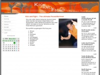 kickandfight.de Webseite Vorschau