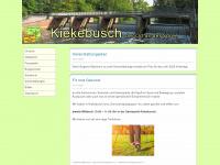 kiekebusch.de Webseite Vorschau
