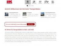 kiermaier-transportbeton.de Webseite Vorschau