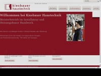 kiesbauer-haustechnik.de Webseite Vorschau
