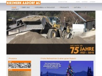 kieswerk-aadorf.ch Webseite Vorschau