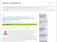 kinder-schminke.de Webseite Vorschau