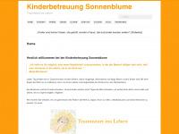 kinderbetreuung-sonnenblume.de Webseite Vorschau