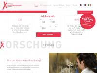 kinderkrebsforschung.ch Webseite Vorschau