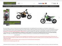 kindermotorraeder.at Webseite Vorschau