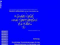 kinderspielsport.de Webseite Vorschau