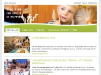 kinderstiftung-wuppertal.de Webseite Vorschau