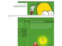 kindertest.at Webseite Vorschau