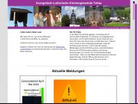 kirche-tettau.de Webseite Vorschau