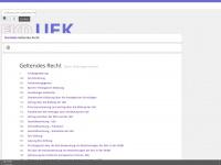 kirchenrecht-uek.de Webseite Vorschau