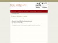 kirste-vorderlader.de Webseite Vorschau