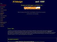 kvdesign.de Webseite Vorschau