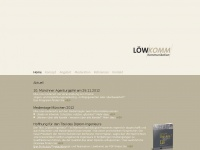 loew-komm.de Webseite Vorschau
