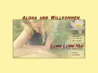 lomi-massage.at Webseite Vorschau