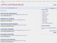 lotto-lottozahlen.de Webseite Vorschau