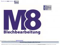 m8-blechbearbeitung.de Webseite Vorschau