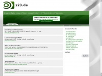 z23.de Webseite Vorschau
