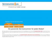 servicenummer4you.de Webseite Vorschau