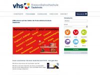 kvhs-saalekreis.de Webseite Vorschau
