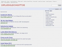 10plus5gleichgott.de Webseite Vorschau