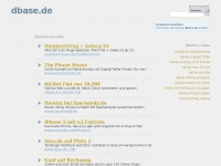 dbase.de Webseite Vorschau
