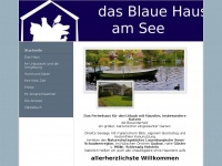 das blaue haus am blaue haus am see ferienhaus. Black Bedroom Furniture Sets. Home Design Ideas
