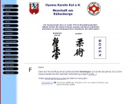oyama-karate-kai.de Webseite Vorschau