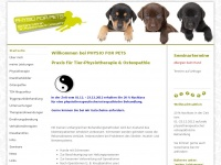 pets-physio.de Webseite Vorschau