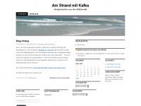 amstrandmitkafka.wordpress.com Webseite Vorschau