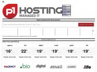 p1hosting.de Webseite Vorschau