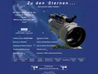 zu-den-sternen.de Webseite Vorschau