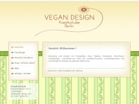 vegan-design.com Webseite Vorschau