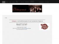 23degrees.ch Webseite Vorschau