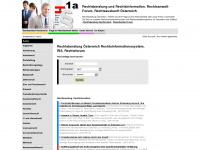 1a-rechtsberatung.at Webseite Vorschau