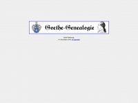 goethe-genealogie.de Thumbnail