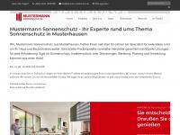 warema-mustermann.de Webseite Vorschau