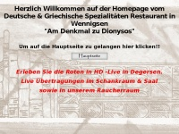 am-denkmal-dionysos.de Webseite Vorschau