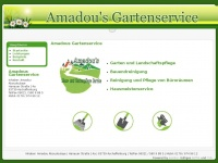 amadous-gartenservice.de Webseite Vorschau