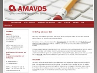 amavos.de Webseite Vorschau