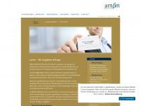 amfin.de Webseite Vorschau