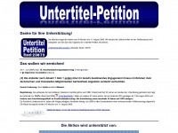 untertitel-petition.de Thumbnail