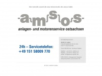 amsos-gmbh.de Webseite Vorschau